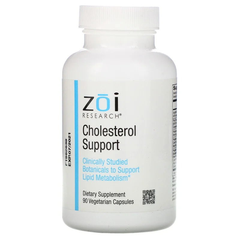 ZOI Research, Поддержка уровня холестерина, 90 растительных капсул