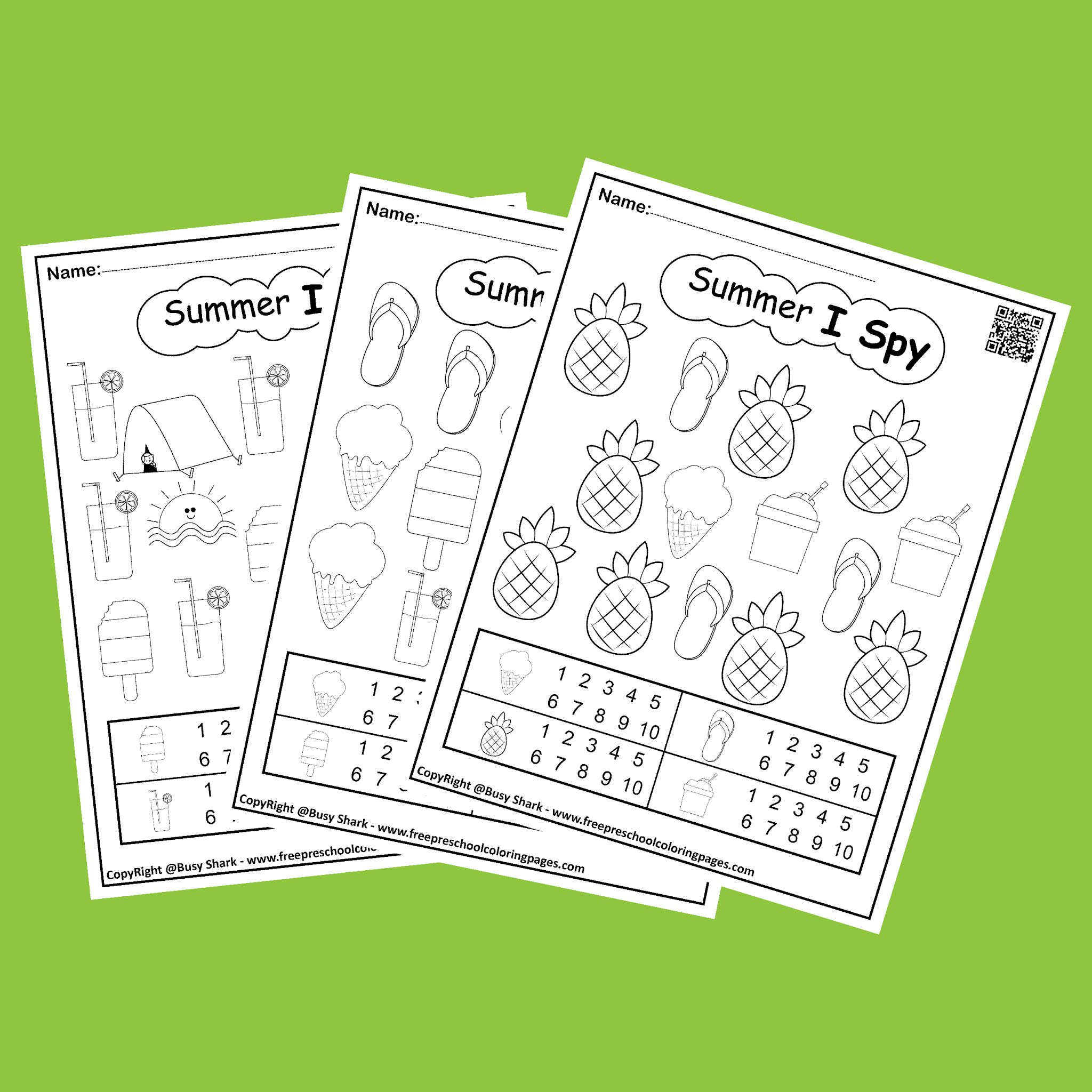 All Summer Coloring Pages