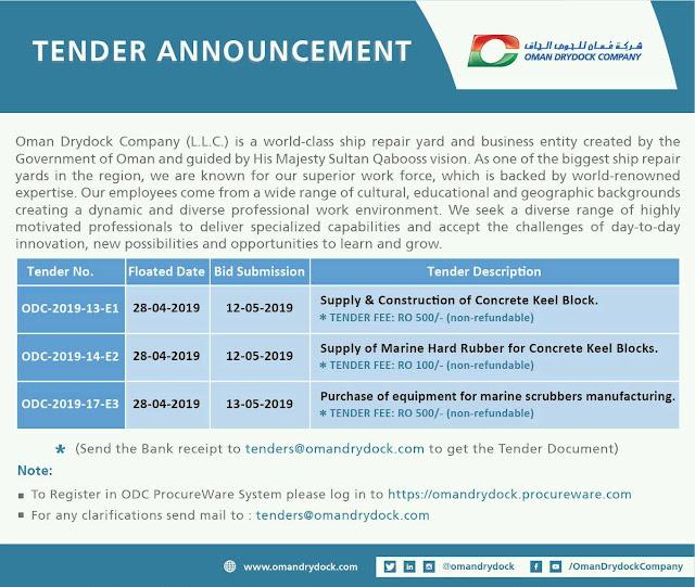 Tender Announcement - Oman DryDock