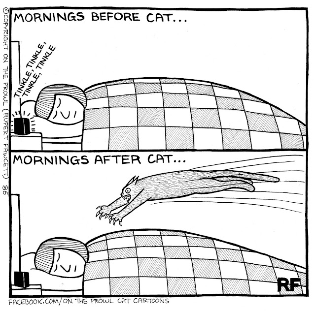 (C) 2021, Rupert Fawcett, On The Prowl Cat Cartoons, Used by Permission