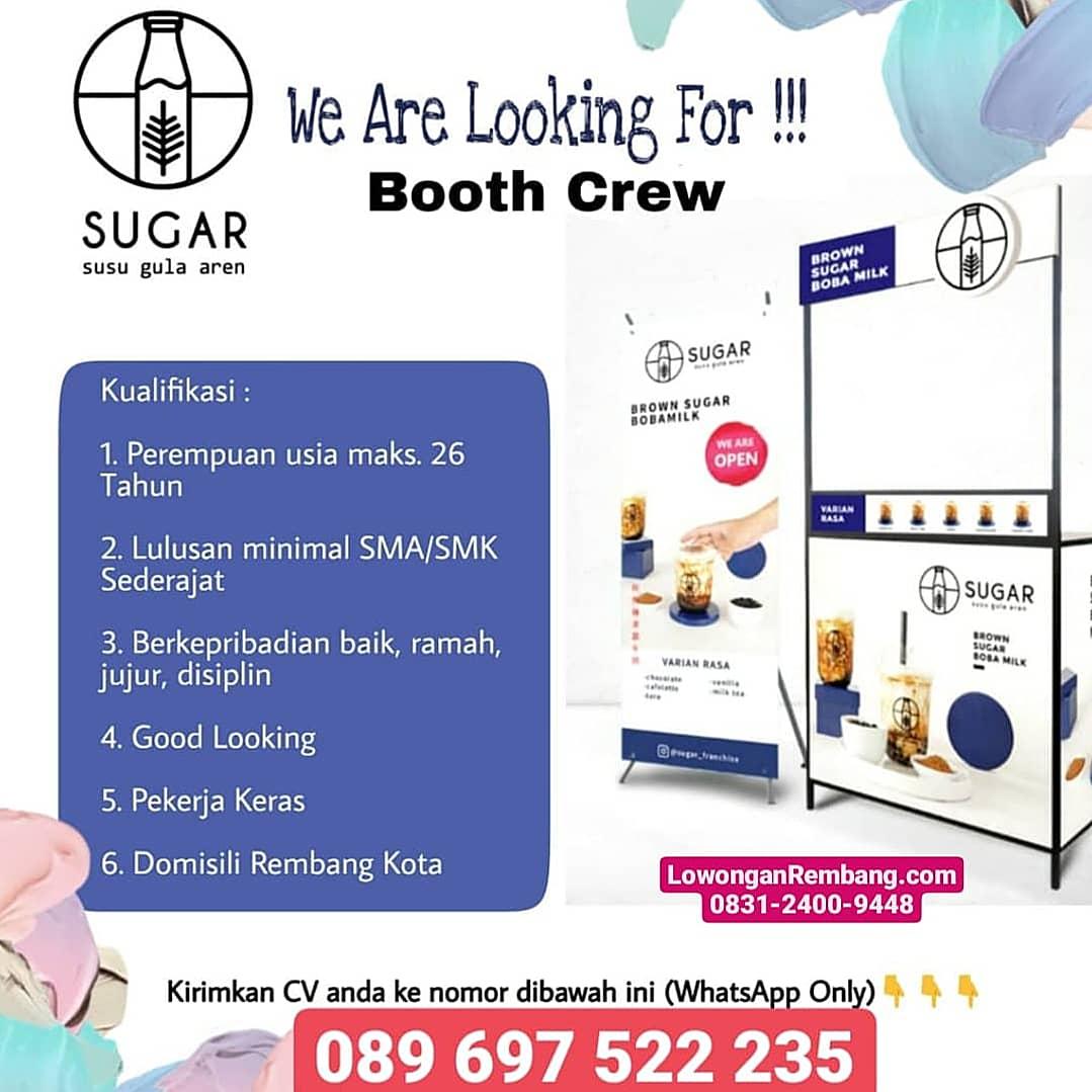 Lowongan Kerja Both Crew Brown Sugar Boba Milk Rembang Cukup Chat WhatsApp