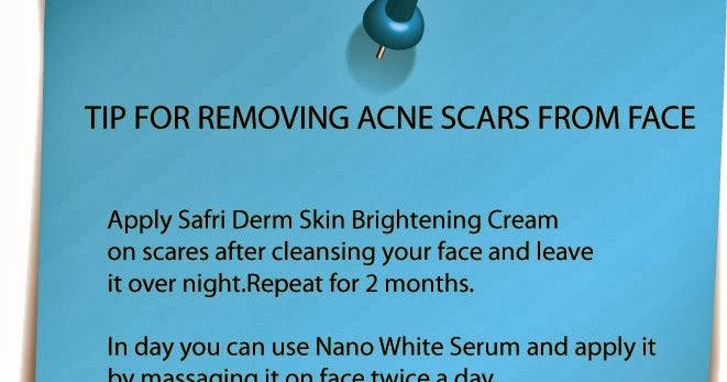 Tatheer World Tip For Removing Acne Scars