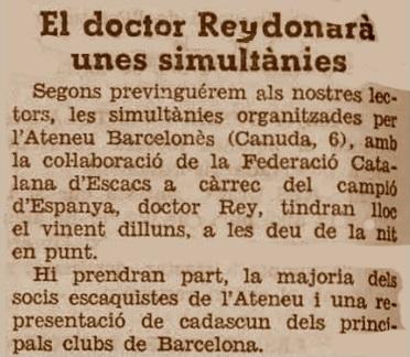 Recorte de La Humanitat, 28/1/1933
