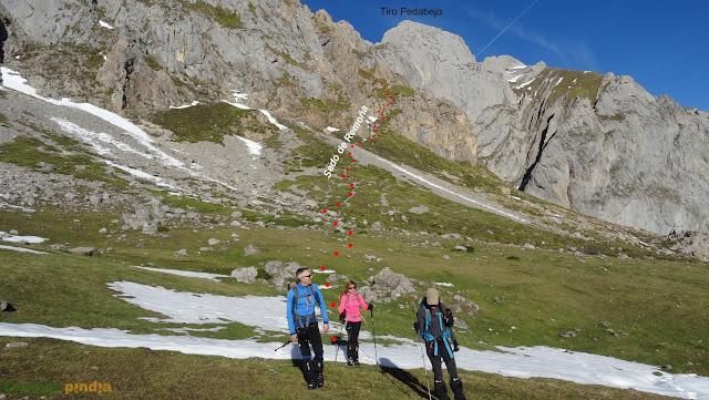 Peñas de Cifuentes, del Tiro Pedabejo a Peña Remoña regresando por la Vega de Liordes en Picos de Europa.