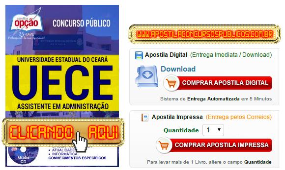 Apostila Concurso UECE 2016 Assistente em Administração PDF Impressa
