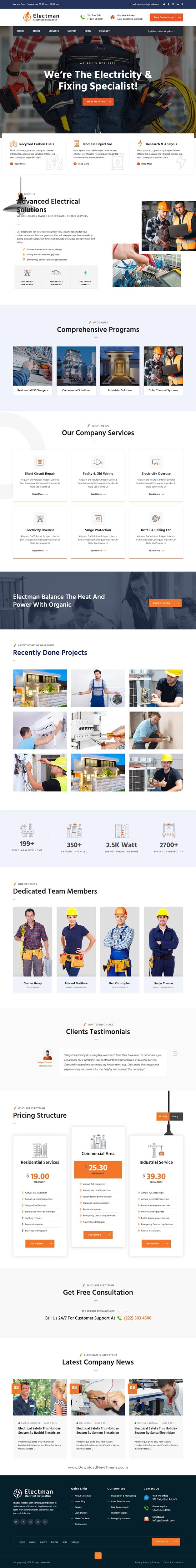 Electricity Services HubSpot Theme