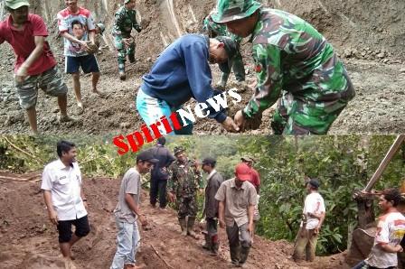Prajurit TNI Utamakan Kebersamaan di Pra TMMD Ke-105, TA 2019 di Wilayah Kodim 1424/Sinjai