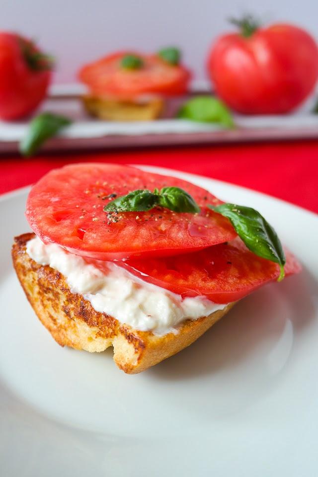 French Toast mit Tomaten