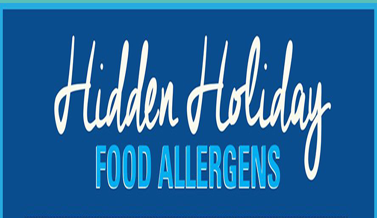 Hidden Holiday Food Allergens #infographic