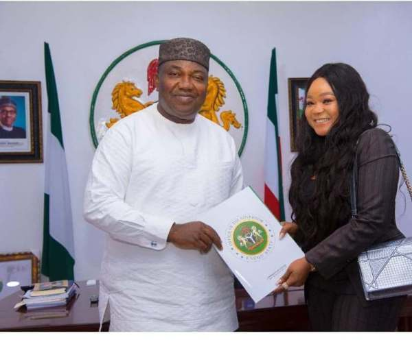 Gov. Ugwuanyi appoints popular Nollywood actress Enugu Ambassador for youth development