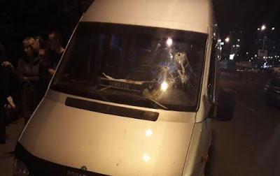 Поліція прокоментувала напад на маршрутку з пасажирами у Києві