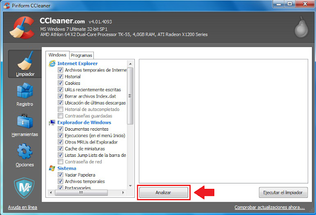 Descargar Ccleaner gratis mantenimiento del ordenador