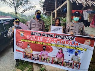 Kapolres Tana Toraja: Demi Kemanusiaan, Salurkan Bantuan Bahan Pokok