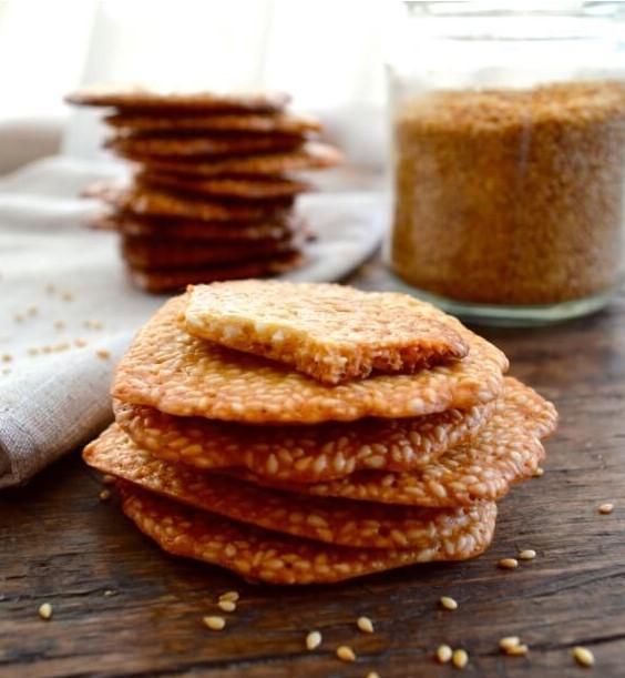 Homemade Sweet Sesame Crisps
