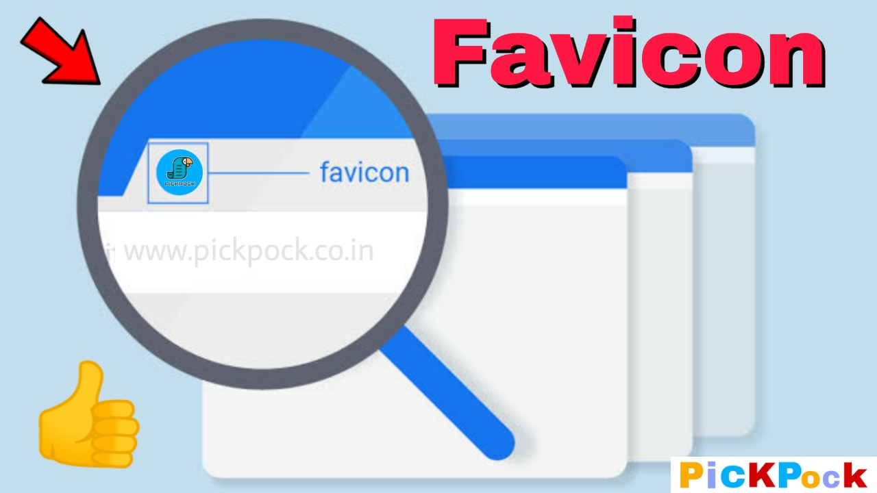 How To Add Or Change Blogger Custom Favicon, PickPock