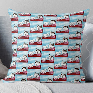Throw pillows, Home accent pillow with dog design