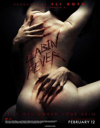 Poster Of Cabin Fever 2016 English 300MB BRRip 720p ESubs HEVC Free Download Watch Online Worldfree4u