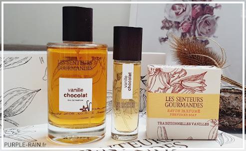 Blog PurpleRain - Coffret parfumé Les Senteurs Gourmandes