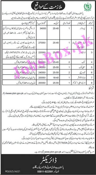 PBM Pakistan Bait ul Mal Jobs 2021 in Pakistan - www.pbm.gov.pk Jobs 2021