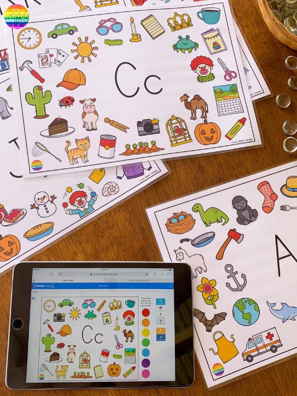 Beginning Letter Sounds Alphabet Mats BUNDLE | you clever monkey
