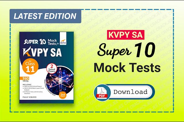 Download Disha KVPY Super 10 Mock Tests Pdf