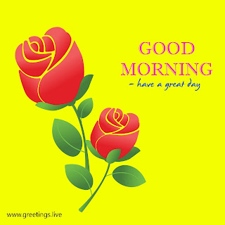 Good morning images with rose flowers yellow back ground