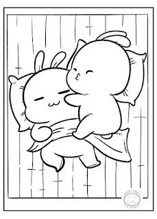 dibujos kawai para colorear