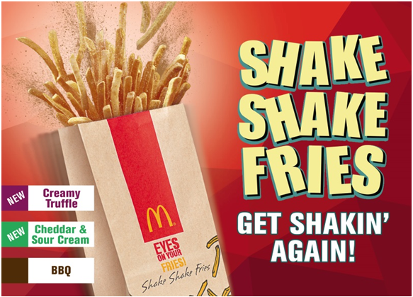 McDonald's Shake Shake Fries is back