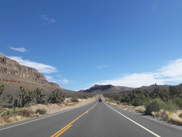Strada verso l'accesso al Grand Canyon West Riserva Hualapai
