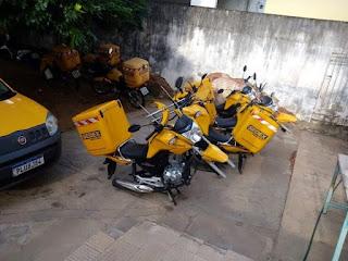 Correios: Ladrões levam rodas das motos que fazem entregas em Brumado