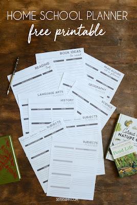 free home school planner printable