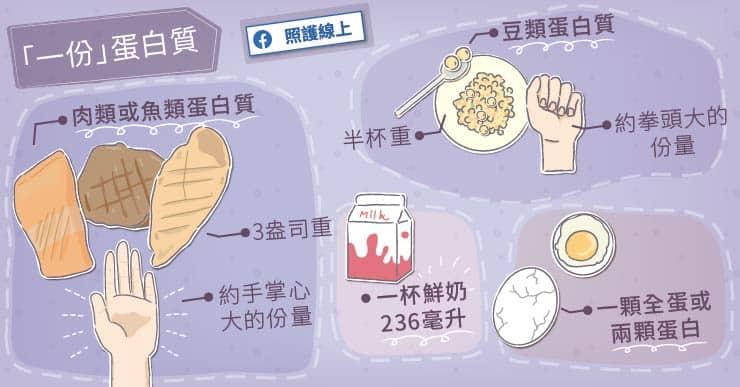 各種食物中的蛋白質含量