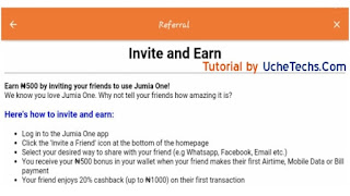 Jumia One App Invite and Earn