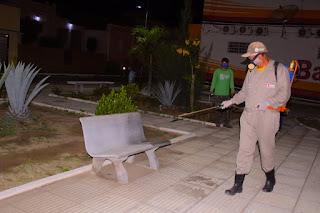 Em Picuí, agentes do CEVAMS continuam a realizar a desinfecção das repartições públicas