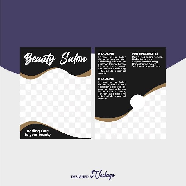 salon flyer design template,