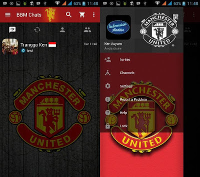Download BBM Mod Manchester United (MU) 3.3.2.31 Clone