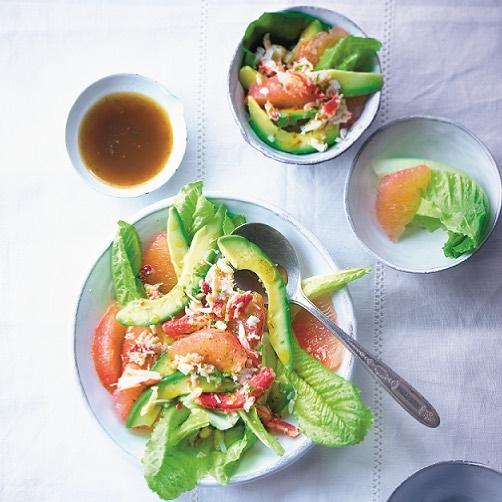 Salade de crabe, avocat, pamplemousse