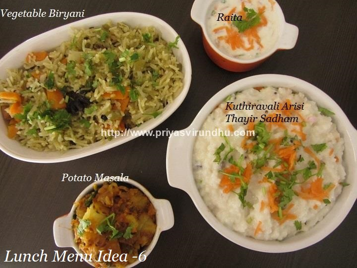 Do Check Out Other Interesting South Indian Lunch Menu Ideas Here