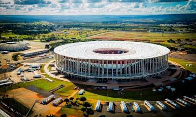 A foto mostra o Estadio Nacional Mané garrincha em Brasilia-DF.