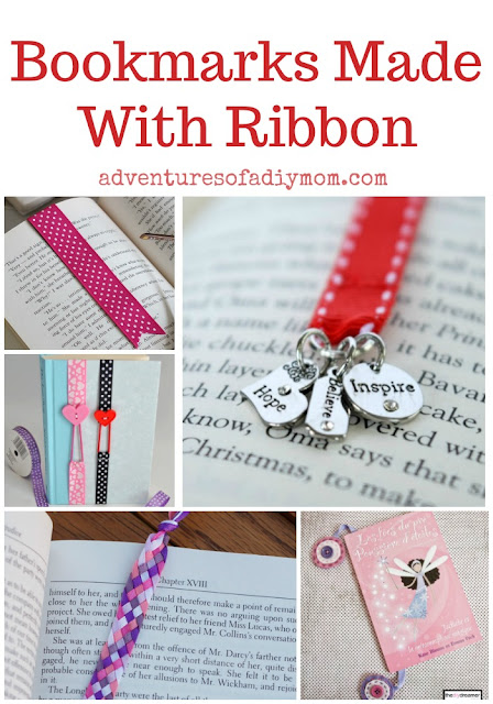 bookmarks made with ribbon