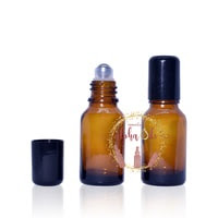 Roller Bottle/Botol 15ml Amber Kaca Tebal IMPORT Essential Oil