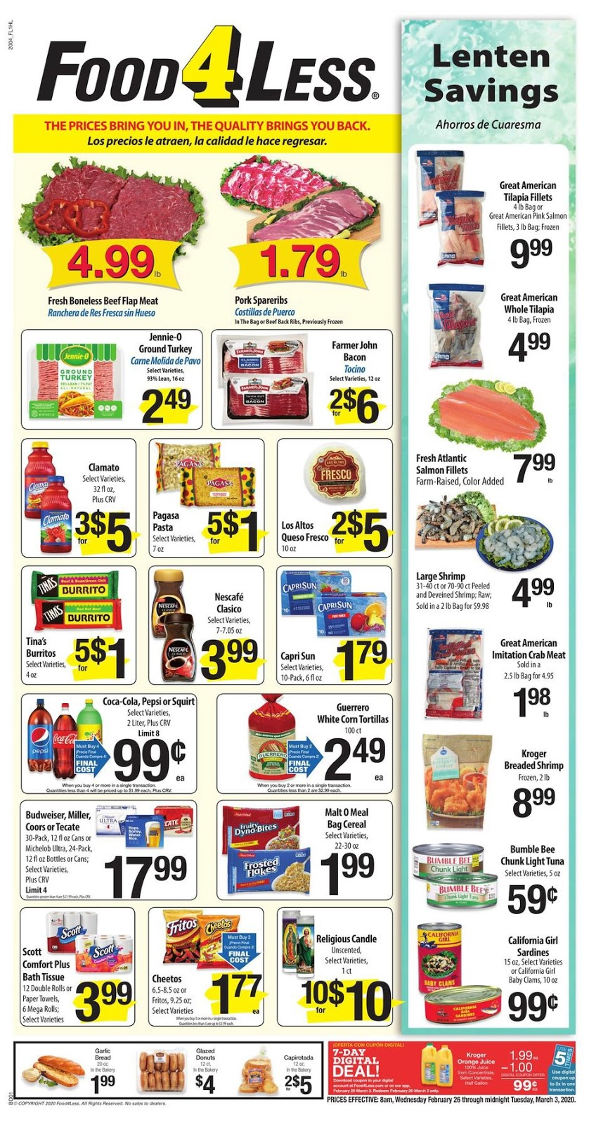⭐ Food 4 Less Ad 2/26/20 ⭐ Food 4 Less Weekly Ad February 26 2020