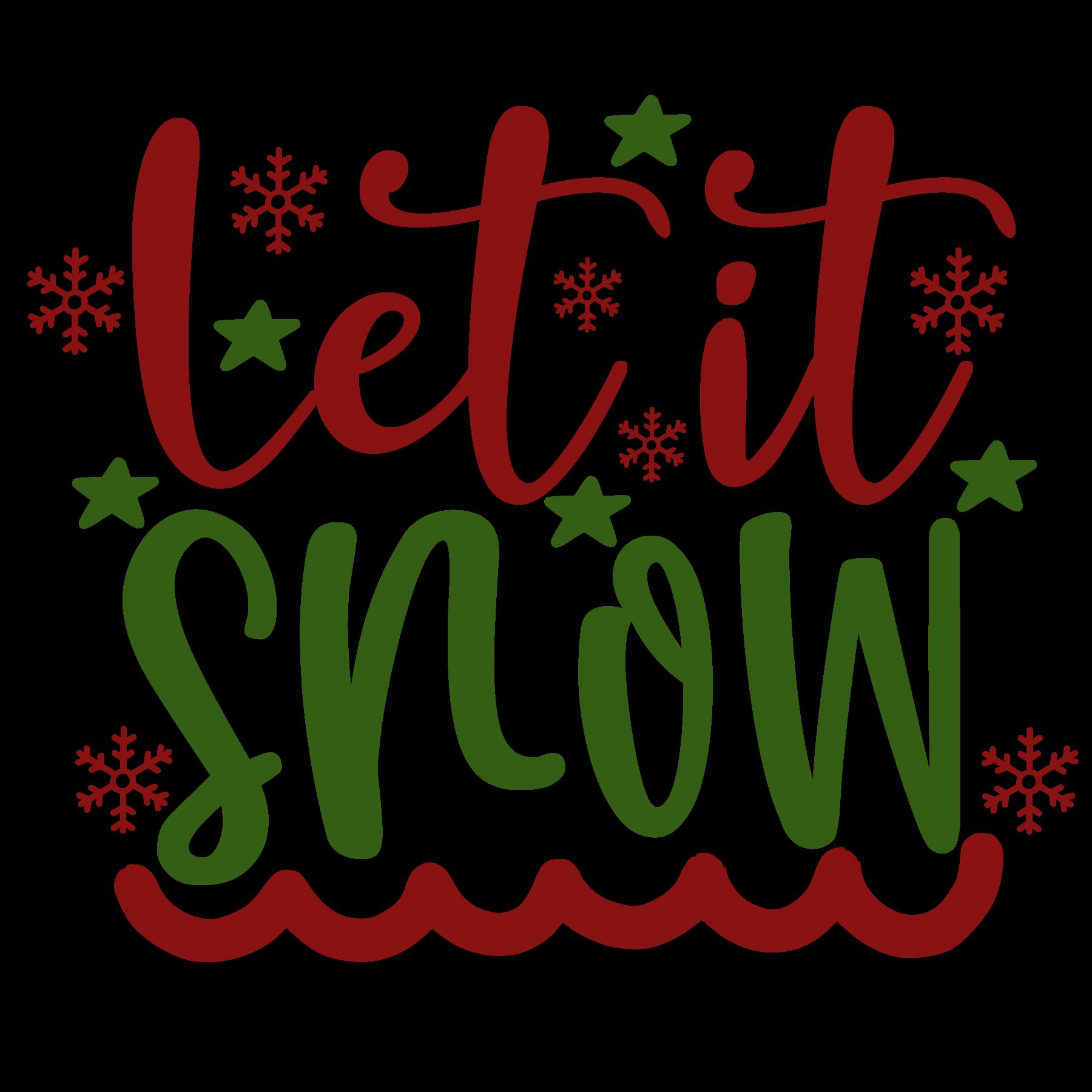 Let it Snow SVG Cut Files
