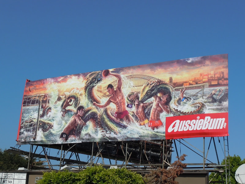 AussieBum waterpolo billboard