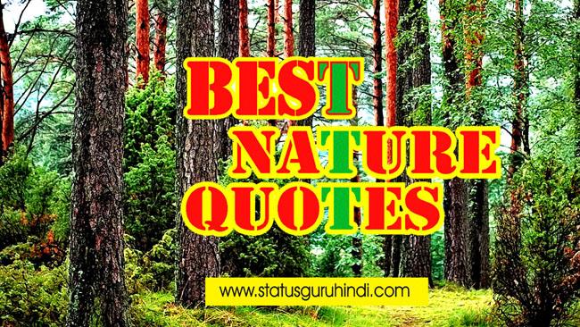 Best Nature Quotes in Hindi   प्रकृति से जुड़े कुछ अनमोल विचार