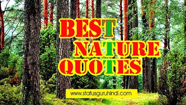 Best Nature Quotes in Hindi | प्रकृति से जुड़े कुछ अनमोल विचार