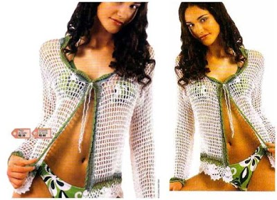 Chaqueta Bolero Calada Crochet Patron