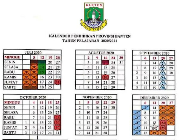 Download Kalender Pendidikan Provinsi Banten Tahun Pelajaran 2020/2021