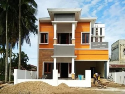 indian simple house colour combination outside pictures
