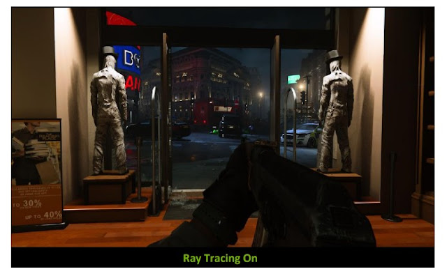Call Of Duty game after activating the Ray Tracing feature